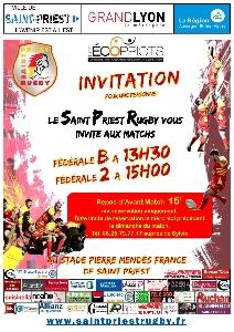 Le Saint Priest Rugby vous invite aux matchs